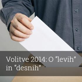 """Volitve 2014: o """"levih"""" in """"desnih"""""""